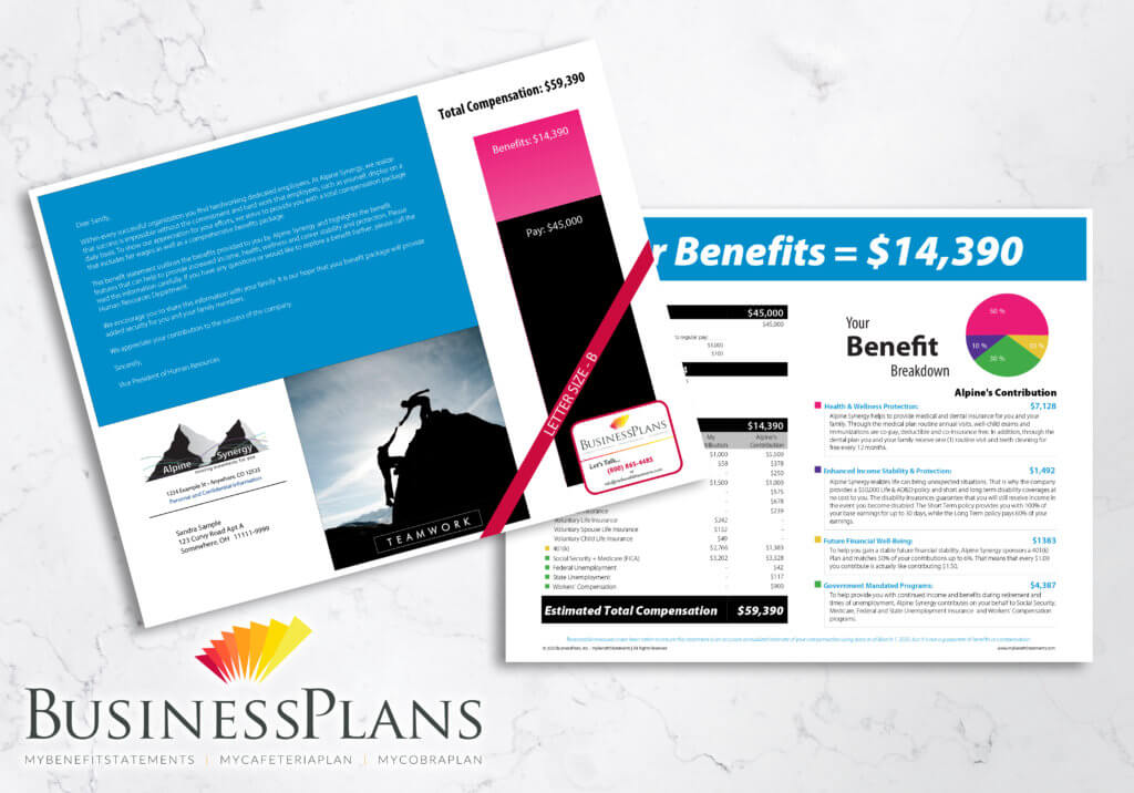 alpine synergy letter size employee benefit statement sample