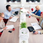 Business people having meeting in an office